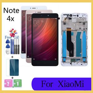 """5.5 """"الأصلي ل xiaomi redmi ملاحظة 4x lcd لمس الشاشة محول الأرقام الجمعية ل xiaomi redmi note4x عرض مع استبدال الإطار"""