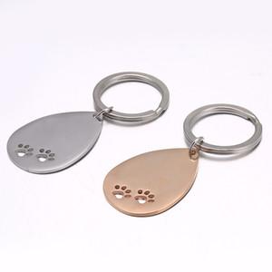 Keyrings для собаки из нержавеющей стали. Пустой брелок DIY Charm Print Graval Mirror Tolised подвесной ключ цепи кольца аксессуары 636 к2