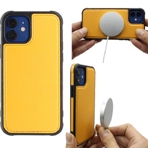 Suitable for iPhone12pro mobile phone magnetic protective cover Apple 11max leather mobile phone protective shell wireless magnetic