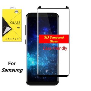 3D Curved Tempered Glass For Samsung Galaxy S20 Plus S7 Edge S8 S9 10 Plus Note 8 9 10 Pro Case Friendly Screen Protector Note 10 9 Wth Box