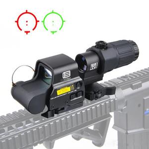 Taktik 558 Holografik Sight 33 G33 Büyüteç Combo 20mm Ray Dağı için Combo Taktik Kırmızı Dot Sight Kapsamları
