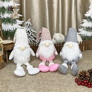 Decoração de Natal Gnome Elf Boneca Feliz Natal para o presente do Xmas Ornamento Cristmas Início Tabela Noel Feliz Ano Novo JK2011PH