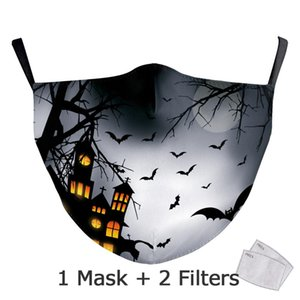 Nadanbao Classic Halloween Cosplay Masks Kids Pumpkin Print Washable Face Cover Fashion Funny Party Mask Adult Half Face yxlTQn sports2010