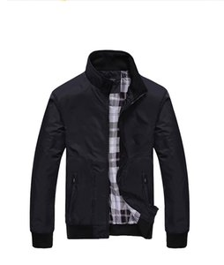 Mens Jacket for Autumn and Winter Fashion Solid Color Men Sports Jacket Casual Streetwear Coat with Zipper Tops Mens Clothing