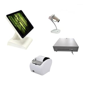 Wholeset epos system cash registers terminal all in one for supermarket1