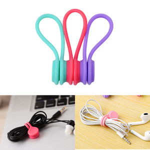 vip3PCS Silicone Magnetic Organizer Cord Storage Holder Clips Winder Earphone For Data Cable