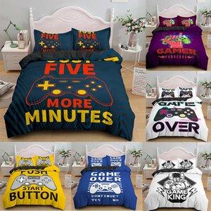 3D Bedding Set for Boys Twin Comforter Cover Duvet Kids Colorful Action Buttons Printed Quilt Soft Microfiber Bedspr