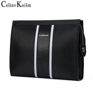 Celinv Koilm мужская сумка кожаный большой размер сумочка мужская длинная кошелек бренд карты держатель мужчин бизнес сцепления кошельки новый Q1127