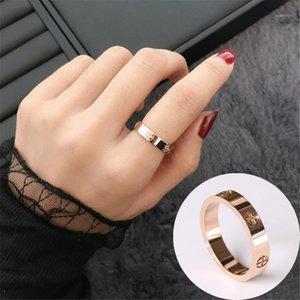 Wedding Rings For Women Jewelry Accesories Crystal Gold Luxury Stainless Steel Fashion Cross Screw Love Ring Couple Jewellery1