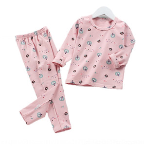 nG6K Girls Flannel Home Pants Clothes comfortable Warm Thickened Baby Pajamas Clothing Sets Shirt with Kids Leisure Wear 6M-3T