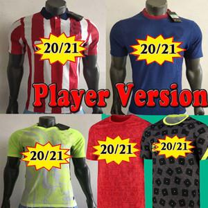 20 21 Oyuncu Sürüm Suarez Madrid Öncesi Maç Eğitim Futbol Formaları Joao Felix 2020 2021 Morata Saul Futbol Gömlek Kids Kiti
