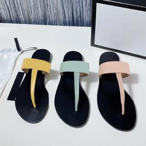 2021 Men Beach Slippers Summer Fashion Women Flip Flobs 100% Cuero Lady Slippers Metal Mujeres Zapatos Ladies Flat Ladies Slippers Tamaño grande 35-45