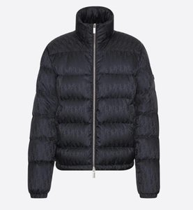 Männer Oblique Down Jacket Designer Male Puffy Seitentasche Winterjacke Fashion Boy Doppel Zip Stehkragen Outwear