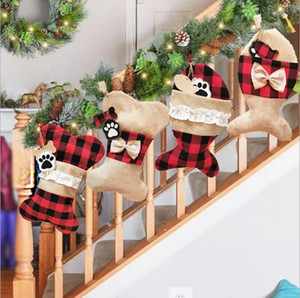 Creative cute Christmas pet socks Christmas decorations in various places Christmas socks gift bags holiday supplies