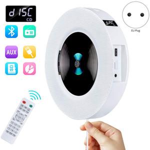 Портативный USB крепления к стене Bluetooth CD-плеер Drive LED дисплей HiFi Speaker о с пультом дистанционного управления FM-радио Встроенный (ЕС Plug)