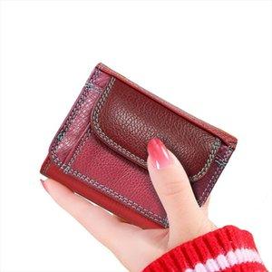 Beth Coin Slim Bag Money Wallet Cuero Holder Hoting Wallets Tarjeta Mini Cuero Cuero Cat Pequeño Genuino Lady Monederos RPIPG