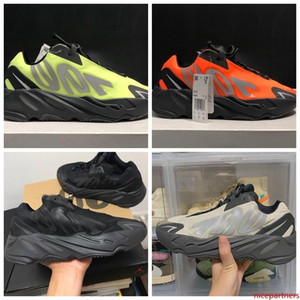2020 Mens 700s MNVN Bone Phosphor Orange Triple Black Kanye West Running Shoes Wave Runner Women Sneakers 3M Reflective Trainers 36-46