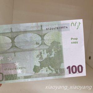 100 Euro Bar Money Papel Party Toys Etapa Atmósfera Magic Pop Banknote Monedas Video Money Copy Cash Envío gratis