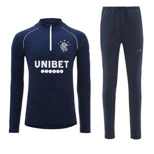 2020 2021 Glasgow Rangers Morelos Windass Mavi Eğitim Takım Elbise Futbol Jerseydorrans Candeias Tavernier Pena 20 21 Rangers Ceket Eğitim Giyim