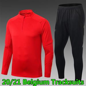 20 21 Camisola Bélgica Correstsuits Conjuntos Homens Adultos Casacos de Inverno Jersey Camisetas Chándal de Fútbol Maillot de Futebol Treinamento