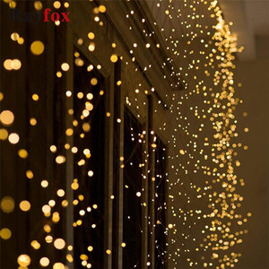 Copper Decoration 1M 2M 3M Wire Outdoor LED String lights Holiday lighting Fairy Garland Christmas Trees Wedding Decor