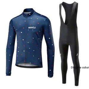 Moda Primavera Pro ciclismo conjunto Morvelo la manga larga de ropa de montaña Bike Wear Maillot Ciclismo Racing ropa de la bicicleta