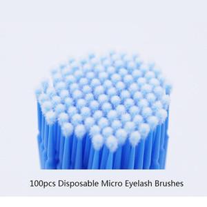100pcs lot Applicators Disposable Eyelash Brushes Swab Eyelash Extension Tools Tube Brushe Individual Eyelashes Removi jlleKe