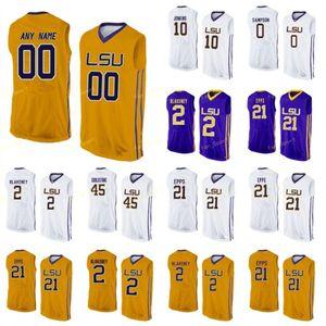 LSU Tigers College Basketball Jersey 0 Darius Dias Naz Reid 1 Ja'vonte Inteligente 10 James Bishop 11 Charles Manning Mulheres Juventude personalizado costurado