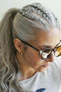 Оценка 10А Бразильская девственница Virgin Virginy Grey Hair Ponytail Afro Серебряные серые человеческие волосы Hairtails Hair Pointifet 1 шт. Расческа в наращивание волос 100 г или 120 г