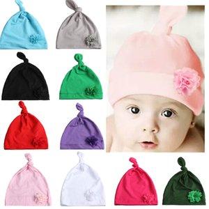 Новорожденный узел цветок Hat аксессуары весна лето хлопок Смешать ребенок мило Hat аксессуары с цветком детьми шляпами FFA4505