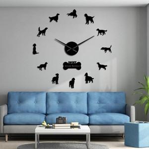Setter irlandês Diy gigante relógio de parede do cão da raça Gundog Frameless Wall Art Relógio Red Setter Big decorativa parede relógio Pet Store Decor bbywhn