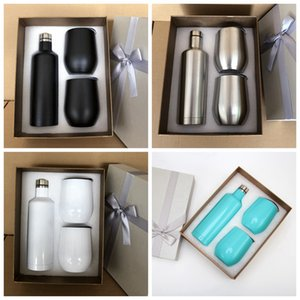 12oz Stainless Steel Egg Mugs 500ml Wine Bottle Tumbler Outdoor Sport Vacuum Cup Water Bottle Insulated Tea Mug SEA SHIPPING 3pcs set RA3741