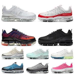 Nike Air VaporMax 360 nike vapormax 360 مخزن خصم جديد نساء بيع الهواء للرجال 360 الجري أحذية NIK جامعة الأبيض كريم الأحمر ماجيك الجمرة أسود لامع فضي المدربين أحذية رياضية