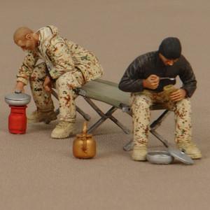 1/35 Смола модель GK GK Солдат солдат Солдат Бундесвера в лагере Военная тема WWII unsaStimed и неокрашенного комплекта 201202
