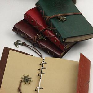 Yapay PU Korsan Dizüstü Günlüğü Kayış Planlayıcısı Değiştirilebilir Kırtasiye Vintage Klasik Spiral Dergisi Şık STRAP Dizüstü