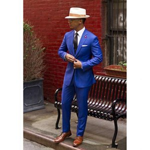2020 Mens Suits With Pants Groom Best Man Blazers Regular (Jacket+Pants) Slim Fit Classic Men Suit For Wedding Business Party