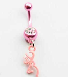 Browning cervo pancia bottone ombelico anelli corpo piercing gioielli ciondolo moda fascino cz pietra PS2036