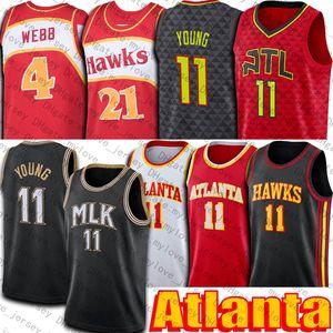Trae 11 Young Jersey Atlantas Jersey 2021 City MLK Dr. King Jersey Gerileme Spud 4 Webb Formalar
