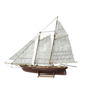 LeadingStar 1:120 DIY Wooden Assembly Sailing Ship Model Classic Sailing Boat Laser Cutting Process Puzzle Toys Y190530