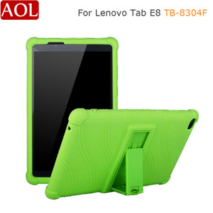 Silicon Case For Lenovo Tab E8 TB-8304F 8.0 inch Shockproof Rubber Tablet stand cover For Lenovo Tab E8 8304F Soft case