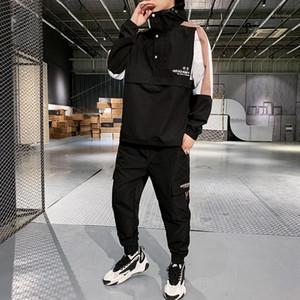Мужские трексуиты мода спортивный мужской капюшовый костюм мужская одежда пота костюмы мужчины набор спортивной одежды спортивная одежда Hommes Capty JJ60NT1