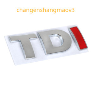 1pc lot Free Shipping ABS TDI Stickers Stickers 3d Badge Emblem