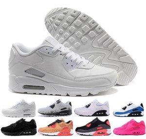 nike air max 90 Flyknit donne delle scarpe da tennis classico 90 degli uomini dei pattini casuali all'ingrosso di trasporto Sport Trainer Air Cushion Sport uk5.5-11 shs02