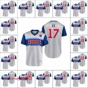 ChicagoCubsMen #44 Rizzo Tony 9 Javier Baez El Mago 17 Kris Bryant KB Women Youth Little League Classic Replica Custom Jersey