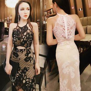 Missoov Moda Marka Tasarımcı Kadın Giyim Yaz Seksi Elbiseler Kadın Dantel Hollow Out Elbise vestidos Roupas Femininas Yeni