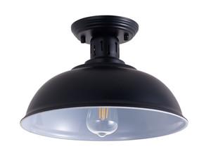 Lampada da soffitto vintage nero E26 Lampada a sospensione a LED LED industriale per interni Cafe Restaurant Bar Corridoio Decorazione del corridoio Accensione USA disponibile-L