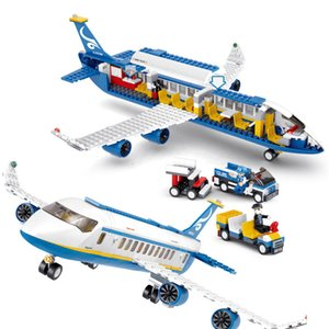 Hot selling aircraft series airbus Building block Toy Compatible with ed Assembl DIY Educating Children Toys Christmas Gifts