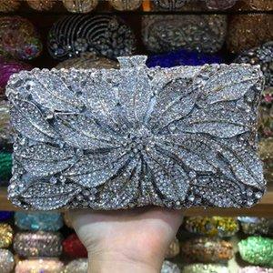 Silver Rhinestone Crystal Wedding Clutch Purse Fashion XIYUAN Women Evening Shoulder Handbags Ladies Bridal Bridesmaid Clutches1