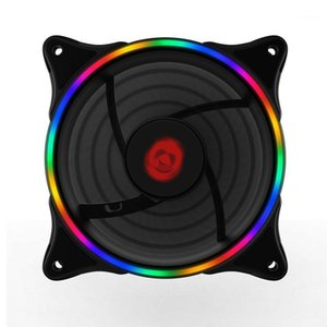 COOLMOON Cooling Fan Neon Desktop Computer Case Fan 12cm RGB Rainbow Color LED Light Laptop Cooling Large 4P+Small 3P1