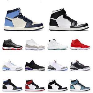 11S 11S Basketball Chaussures Sneakers Université Noire Or Noir Jeu Royal Mens Basketball Chaussures 13S 3M Lucky Vert Flint Sneakers en plein air